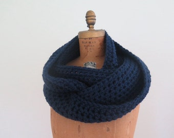 Chunky Infinity Scarf | Loop Scarf | Oversized Huge Scarf | The Inverness | Navy Scarf