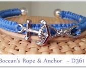 Bocean's Anchor N Rope in Periwinkle blue ~ D361