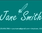 Customizable Teal Professional Networking Business Card