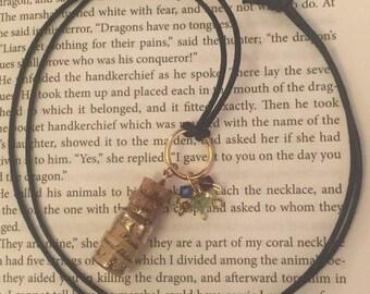 "Pixie Dust Charm Pendant necklace ""Faith, Trust and Pixie Dust"""