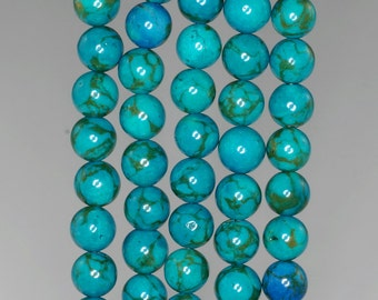 6mm Blue Turquoise Gemstone Round 6mm Loose Beads 16 inch Full Strand (90186774-772)
