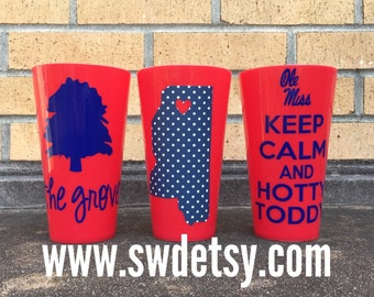 OLE MISS LANDSHARKS, Christmas Gist, Keep Calm Tailgating 22 oz Tumbler, Ole Miss, University of Mississippi, Rebels, Gift