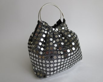 Evening Clutch, Silver Disco Diva