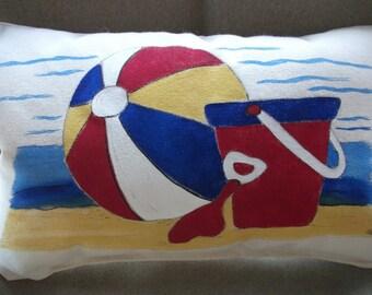 Coastal Kids ... Beach Ball and Bucket Pillow