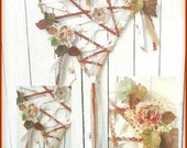Wire Heart wreath, wall hanging, string art, Door hanger,Boho, Gypsy, Shabby door, Wire, String, Floral, Burlap, Rust, natural colors