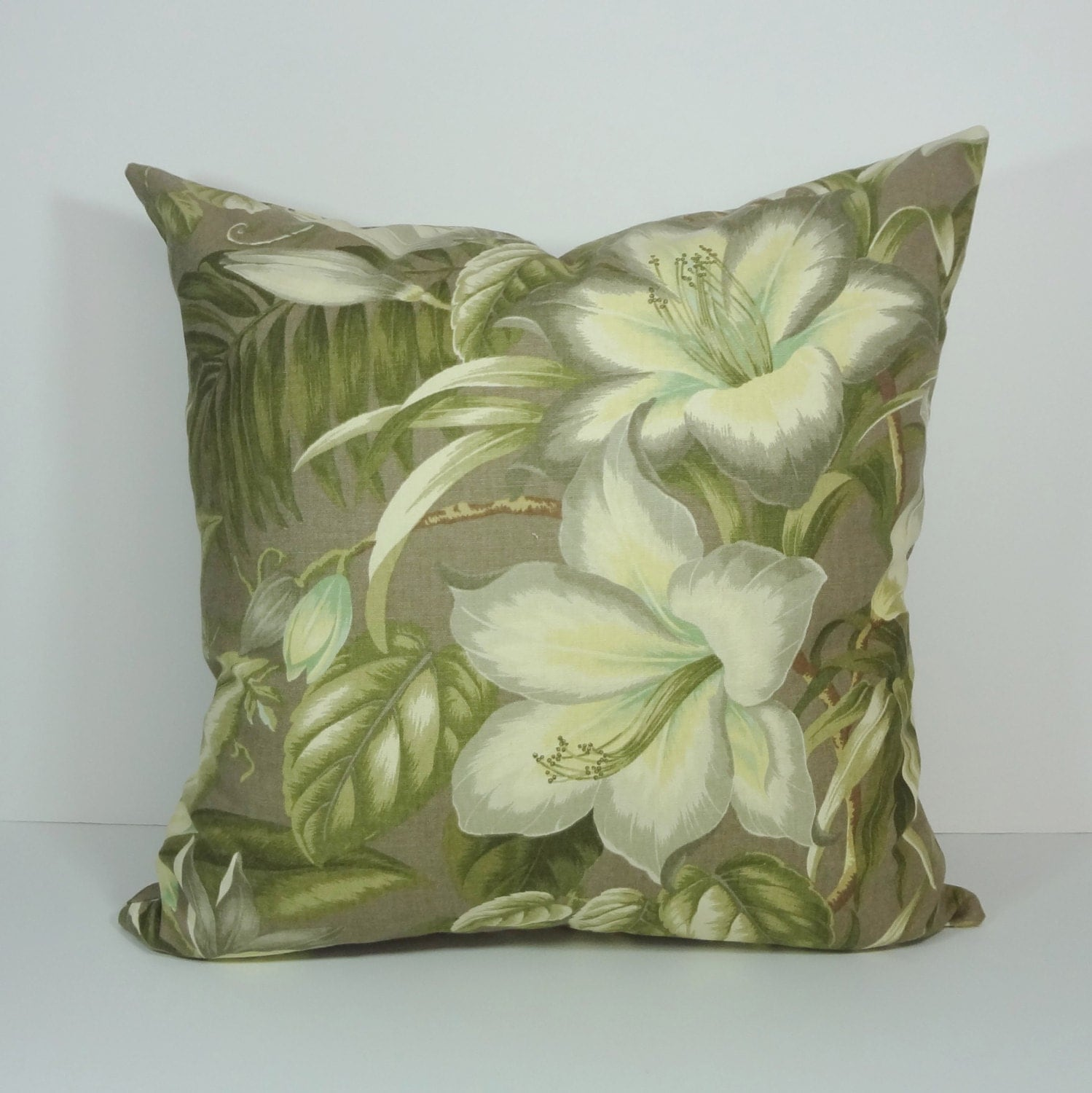 Tommy Bahama Lemoncello Decorative Pillow Cover Botanical
