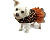 Halloween Dog Tutu Dress Black and Orange Candy Corn Halloween Dog Tutu Dog Costume Pet Costume Dog clothes