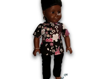 "Asian Inspired Top & Leggings Outfit 18"" Doll Clothes [41919G]"