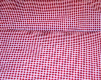 Vintage, Crib Sheets, Red Gingham, Nursery Supplies, Red and White Gingham, Baby Bed Sheets, Fitted Crib Sheets