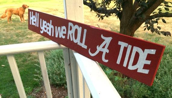 Alabama Man Cave Decor : Alabama roll tide sign decor man cave by