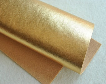 "8.5"" x 11.5"" Metallic Wool Blend Felt Sheet, Gold"