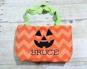 Halloween Candy Bag Tote Pumpkin Toddler Size