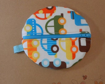 Baby Boy Organic Paci Pod in Car Fabric READY TO SHIP!!