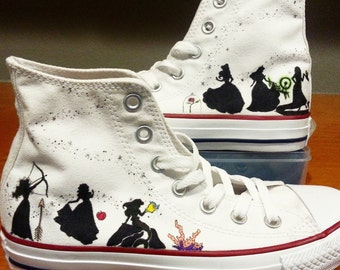 Disney  Princesses Silhouette Shoes ARTWORK and SHOES INCLUDED 150 for outsides only 195 for wraparound artwork