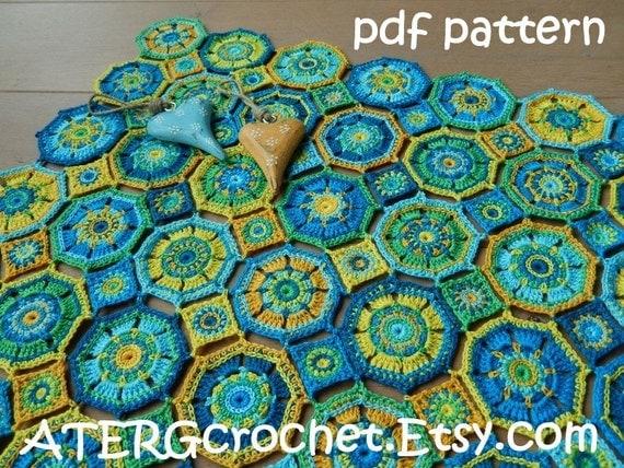 Octagon Baby Afghan Crochet Pattern : Crochet pattern baby blanket OCTAGON by by ATERGcrochet on ...