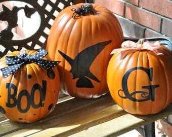 Halloween Pumpkin Decoration/ Personalized Pumpkin/ Halloween Decoration/ Pumpkin