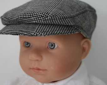 Newsboy Baby and Boys Flat Cap\Wool Newsboy Cap\Boys Dress Hat\Ringbearer Cap\Childrens Flatcap\Special Occasion-Newborn to 5 years