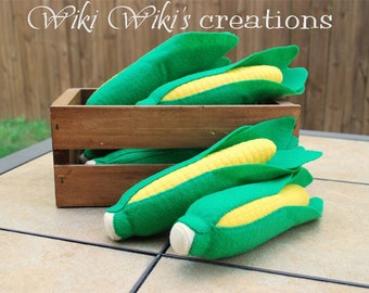 Felt Plush Corn On The Cob