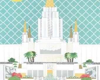 Oakland, California LDS Temple   PRINT (Various Sizes)