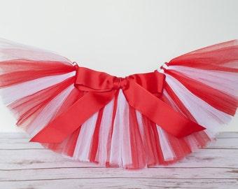 Red & White tutu Valentine tutu 'Ava' Candy heart tutu red white tutu toddler girls tutu sizes 2, 3, 4, photo prop birthday tutu 2T 3T 4T