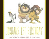 Where the Wild Things Are Birthday DIGITAL File