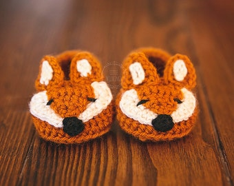 Fox Baby Slippers newborn to 12 months