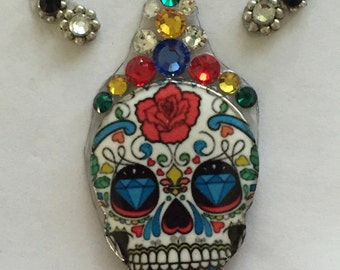 Ultra color sugar skull mega bindi