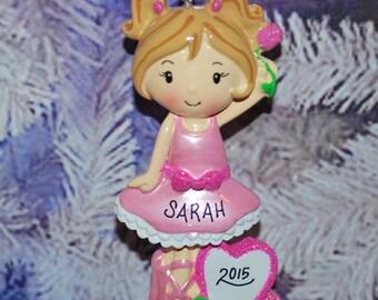 Personalized Ballerina Ornament