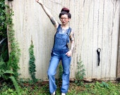 Vintage Overalls Denim Jeans size small 36 8