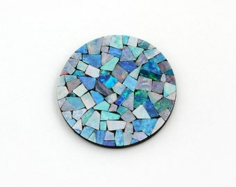 Genuine Opal Mosaic 30mm Round Loose 1 Stone