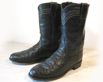 Vintage Cowboy Boots TONY LAMA Black Label / Chestnut Brown