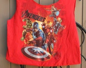 Small Avengers Upcycled Tshirt Bag / Purse / Tote
