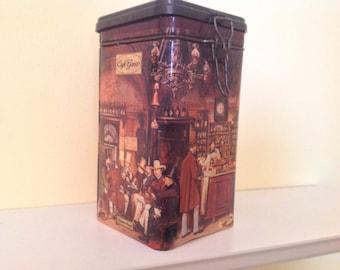 Vintage Eduscho Cafe Greco Coffee Tin