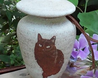 Custom Cat Cremation Urn Custom Urn with Your Pets Image