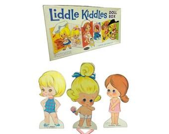 SALE Vintage Liddle Kiddles - Liddle Kiddle Paperdolls, 1960's Paper Dolls, Tiny Baby Dolls, Vintage Mattel, Liddle Diddle, Sizzly Friddle