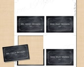 Chalkboard Bordered Place Card Tents: Text-Editable in Microsoft® Word, Printable on Avery 5302, 5820 or 8820 - Instant Download