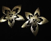 2 PCS Gold Glitter Iron On Patch Applique For Fast Adhesive on Fabrics