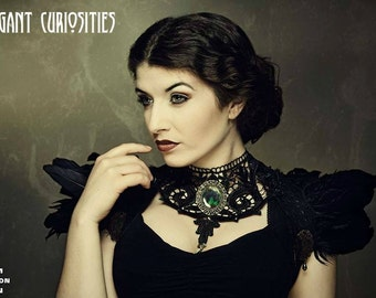 Feather bolero, shrug    * Elegant Curiosities *