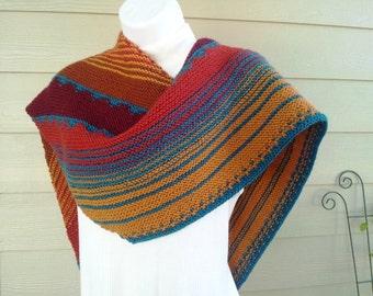 Canyonlands Shawl Knitting Pattern PDF - intermediate level skill