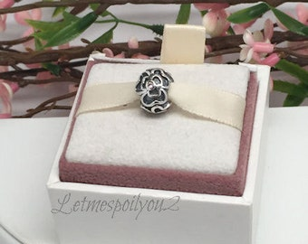 Authentic Retired Pandora PINK POSEY CZ charm