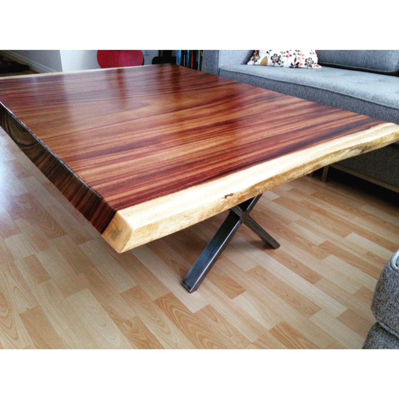 Modern Single Slab Tropical Coffee Table