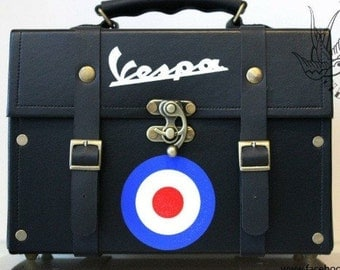 Hand made  vespa mod retro doctor bag