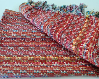 Multicolor Peshtemal style Turkish Kitchen and Hand Towel Cotton Hand loomed 50 x 90 cm