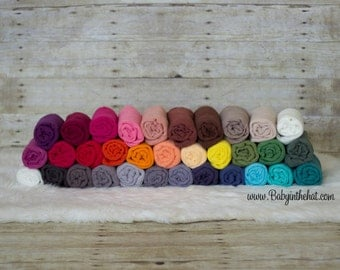 3 Newborn Cheesecloth Wrap Photography Prop Hand Dyed 3 ft x 6 ft Pick Your Color RTS