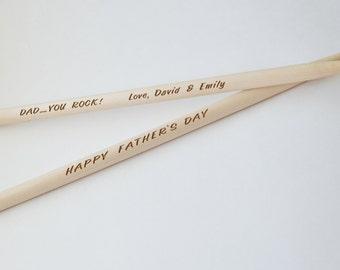 Personalized Drumsticks, Drum Sticks, 1 Pair, Engraved, Sticks, Boy Friend, Gift, Groomsmen, Music Teacher, Drummer, Instrument, Drums
