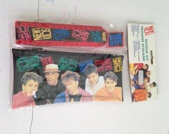 Vintage New Kids on the Block School Supply Set, Vintage NKOTB Merchandise