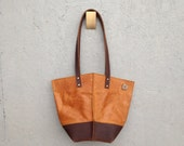 Two Toned Bucket Tote