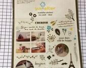 Korean Sticker sheet supplies - 1 sheet - Suatelier Stickers, Kawaii sticker, Cute stickers, Scrapbooking material 1006:Dear