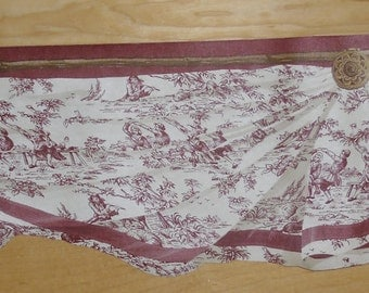 """Wallpaper Border - Millway MW30239DC, Rust Toile on Cream, Swag Border, 5.5"""" x 5 Yards, Dollhouse Supplies, Pre-pasted, Washable, Strippable"""
