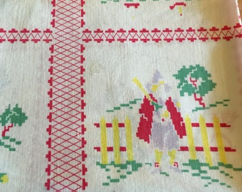 VIintage Small Tablecloth/ Fresh and Pressed